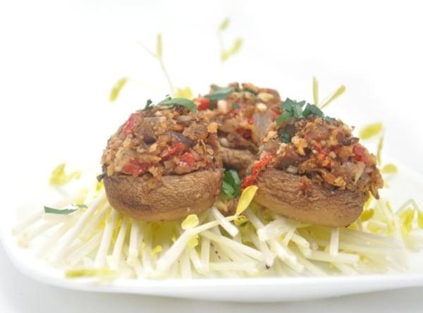 Image of Chestnut Stuffed Mushrooms