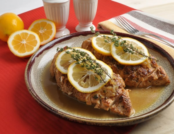 Image ofChicken Breasts with Meyer Lemon-Shallot Sauce