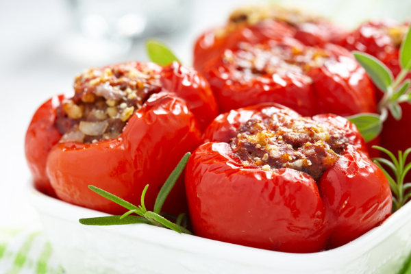 Keto Bison Stuffed Peppers