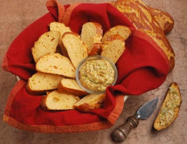 Image ofPretzel Bread Bites with Hatch Chile Pepper Mustard Spread