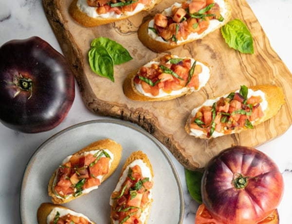 Image of Heirloom Tomato Bruschetta