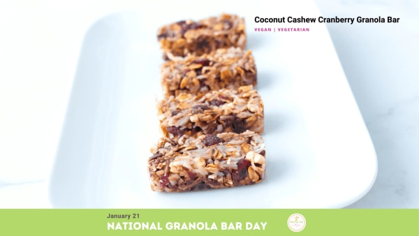 Image ofCoconut Cashew and Cranberry Granola Bars