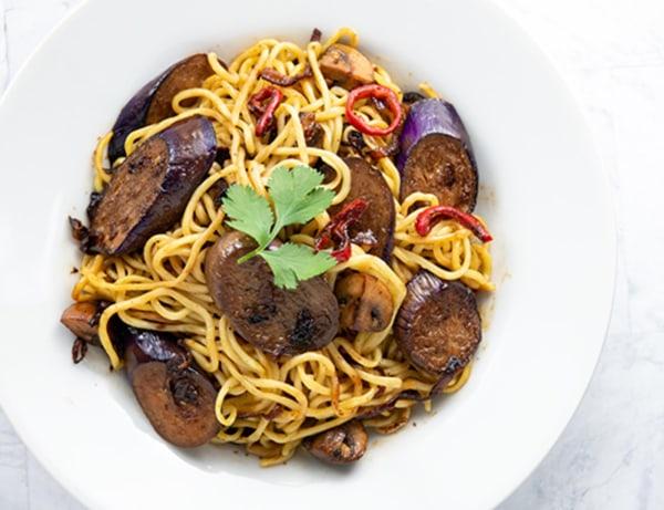 Image of Chinese Eggplant and Mushroom Stir Fry