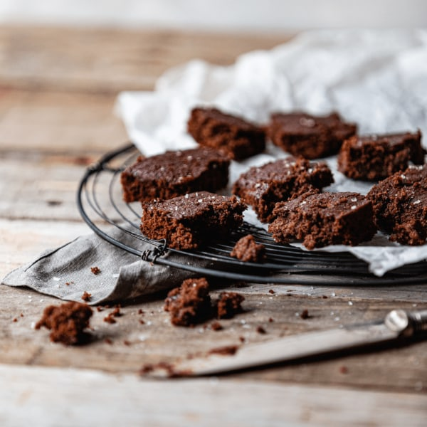 Image of The Best Organic Plant-based Gooey Brownies!