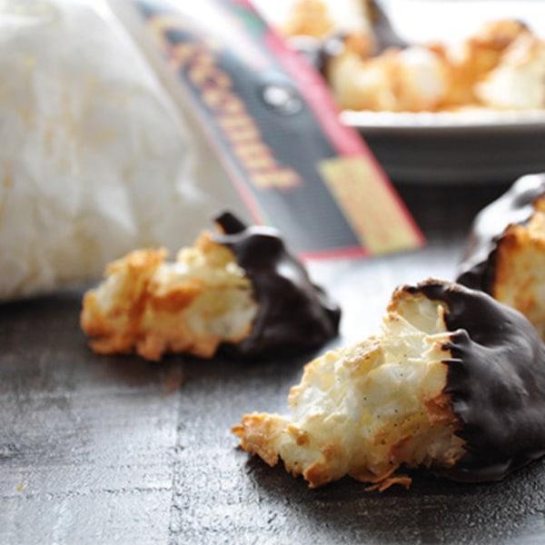 Image ofChocolate Dipped Coconut Macaroons