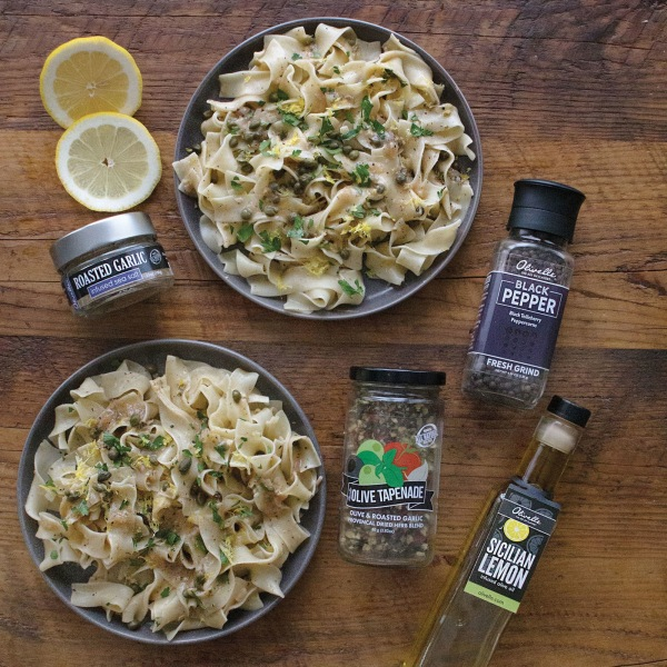 Image ofLEMON & PEPPER PASTA WITH A LEMONY WHITE WINE SAUCE