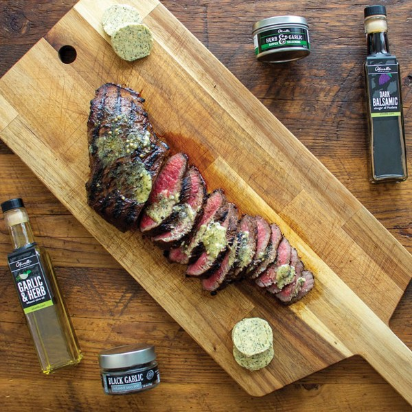 Image ofHERB & GARLIC TRI-TIP WITH COMPOUND BUTTER