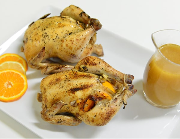 Image of Citrus and Garlic Game Hens
