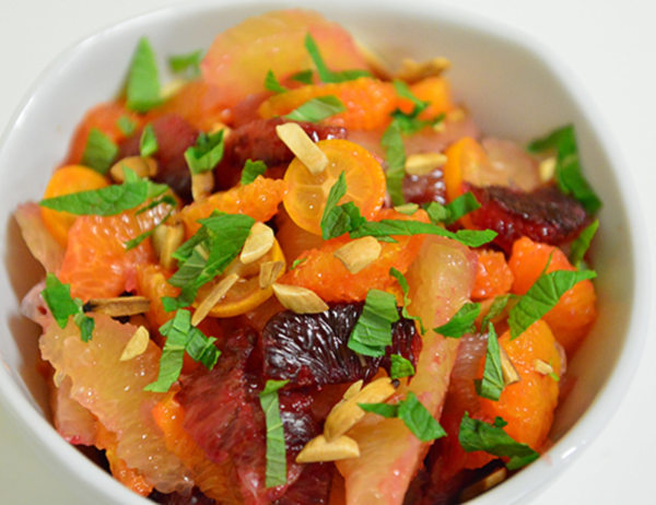 Image ofCitrus Salad with Lemon Grass, Toasted Almonds, and Mint