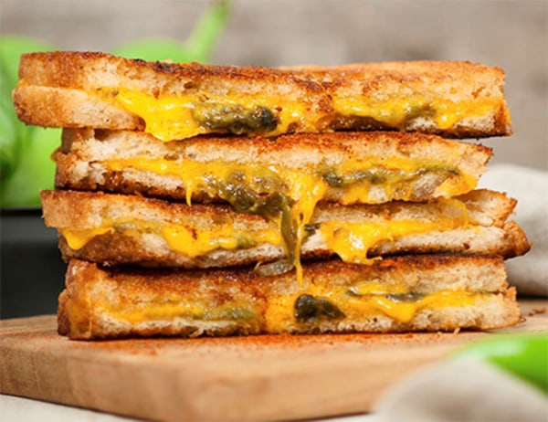 Image of Classic Grilled Cheese Sandwich with Hatch Chile Pepper