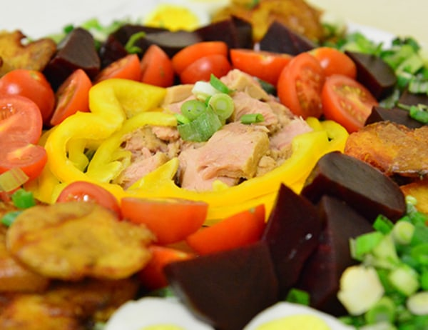 Image ofComposed Salad with Baby Red Beets and Fried Baby Dutch Yellow Potatoes