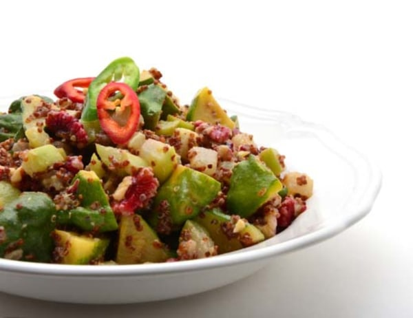 Image of Red Quinoa, Summer Squash and Red Walnut Salad