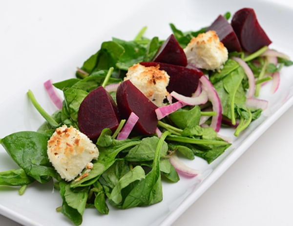 Image of Roasted Baby Beet, Herbed Goat Cheese Green Salad with Dijon Vinaigrette