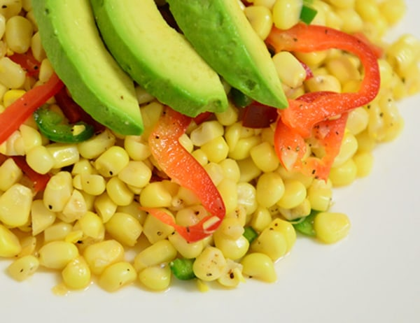 Image ofCorn, Red Pepper and Avocado Salad with Lime Vinaigrette