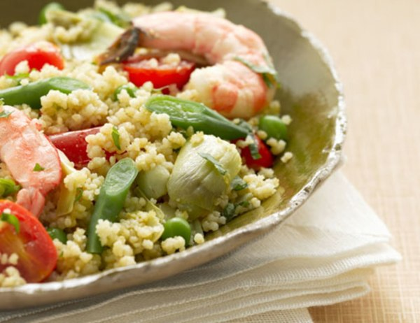 Image ofCouscous with Shrimp and Green Beans