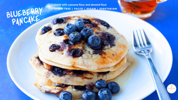 Image of Blueberry Pancake – Gluten-Free, Dairy-Free, Grain-Free, Paleo, Vegan, Vegetarian