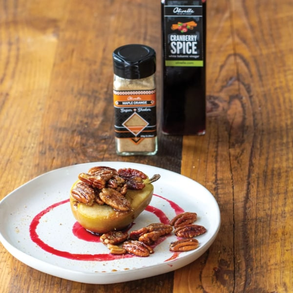 Image ofMAPLE PECAN POACHED PEARS