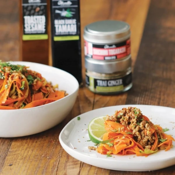 Image of THAI CARROT & ZUCCHINI NOODLES