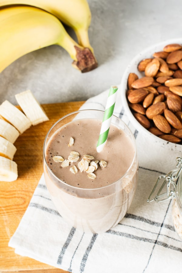 Image of Chocolate Breastfeeding Shake - Chunky Monkey with Almond Butter
