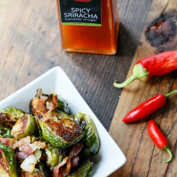 Image of BACON & SRIRACHA ROASTED BRUSSEL SPROUTS
