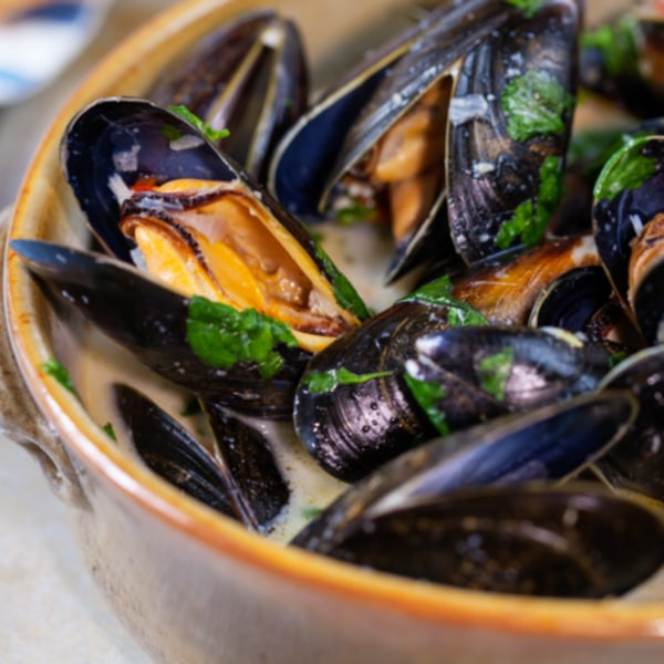Image of Steamed Mussels in Wine