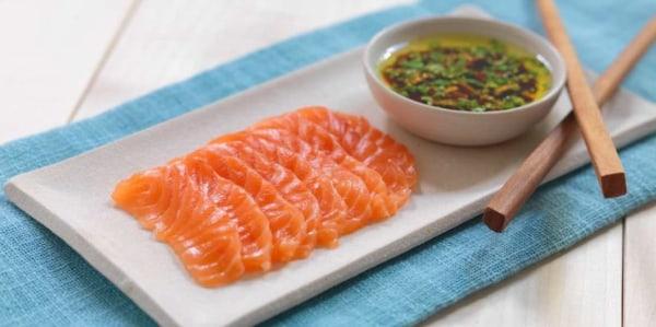 Image ofSimple Salmon Sashimi with Soy Dressing