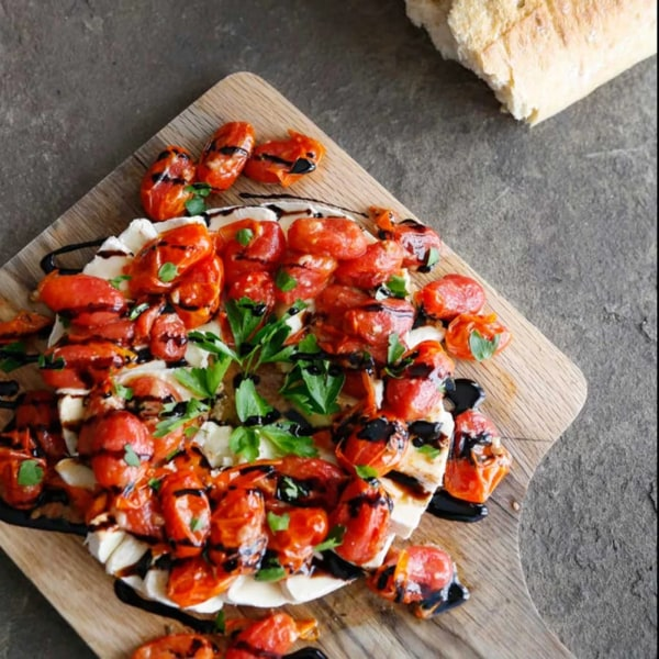 Image ofWARM BRIE WITH SLOW ROASTED TOMATOES
