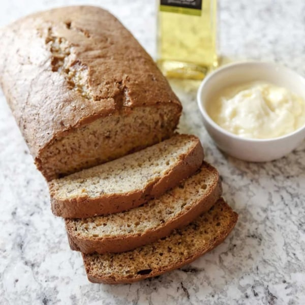 Image ofBANANA BREAD WITH WHIPPED BUTTER