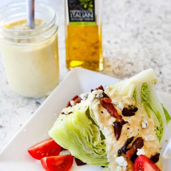 Image ofBLUE CHEESE DRESSING WITH A CLASSIC WEDGE SALAD