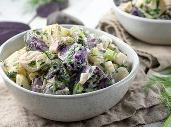 Image of Roasted Cipolline Onion and Purple Potato Salad