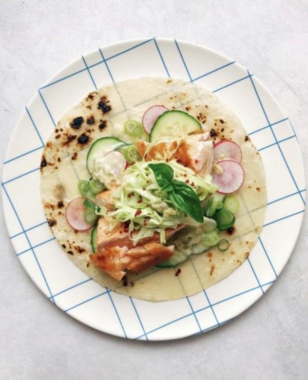 Image of Pan-Seared Salmon Tacos