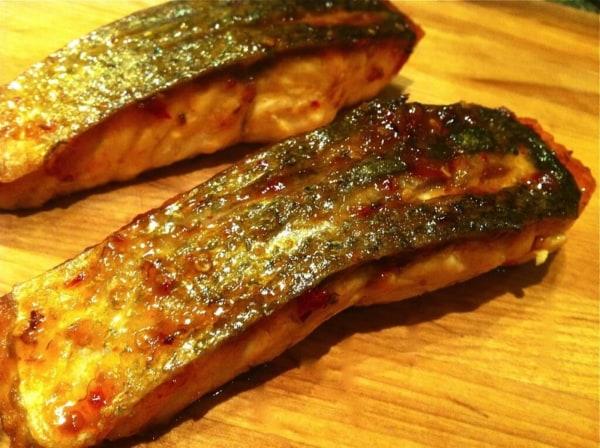 Image of Apricot- Sambal Glazed Salmon with Crispy Skin