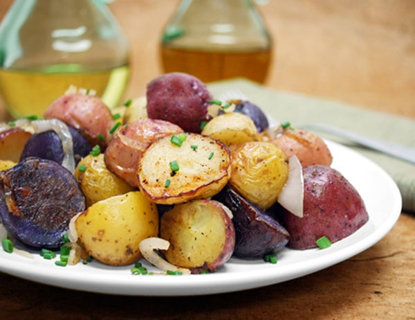 Image of Roasted Gemstone® Potatoes with Caramelized Shallots and Cipolline Onions