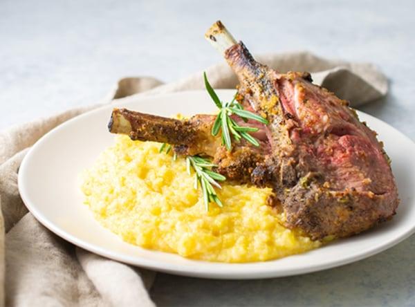 Image of Roasted Rack of Lamb with Creamy Horseradish Polenta