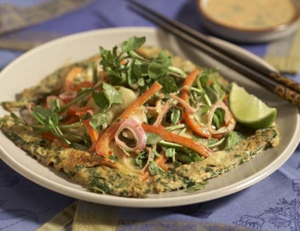 Image of Cucumber & Daikon Salad with Thai Omelet Strips