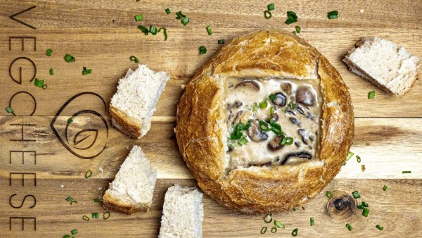 VEGCHEESE Garlic & Chive Mushroom Soup