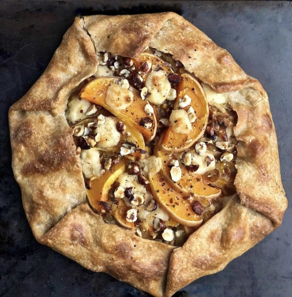 Image of Gratinated Butternut-Hazelnut Rustic Pie