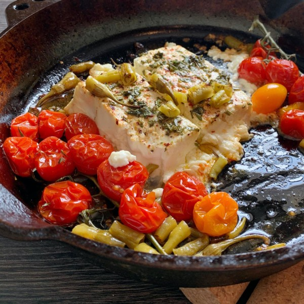 Image of Baked Feta with Tomatoes