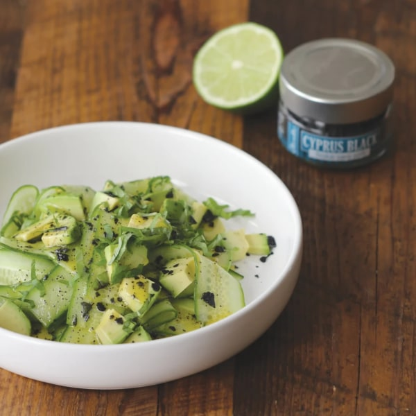 Image ofCUCUMBER & AVOCADO SALAD WITH TEQUILA POPPY SEED VINAIGRETTE