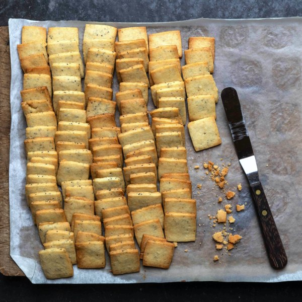 Image of Poppy Seed Shortbread with Ginger and Nutmeg