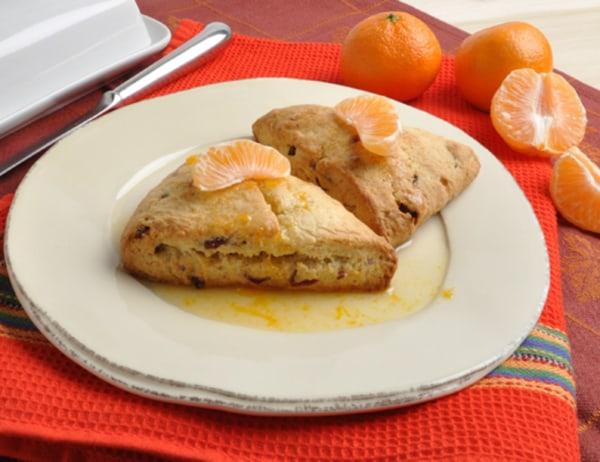 Image ofDried Cranberry-Pixie Tangerine Scones With Pixie Tangerine Sauce