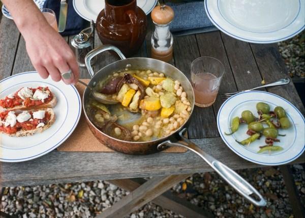 Image ofWhite Beans, Red Onion + Patty Pan Squash
