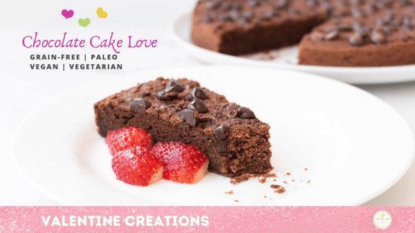 vegan cake - chocolate - grain-free - paleo
