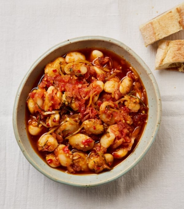 Image of Butter Beans with Preserved Lemon, chilli + Herb Oil