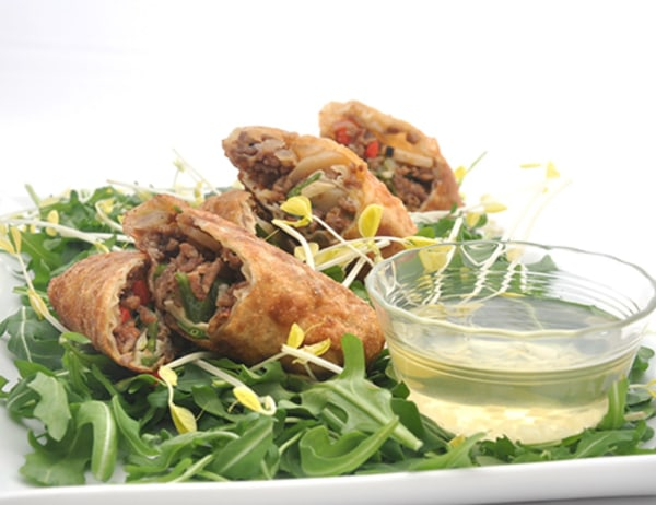 Image of Egg Rolls and Dipping Sauce