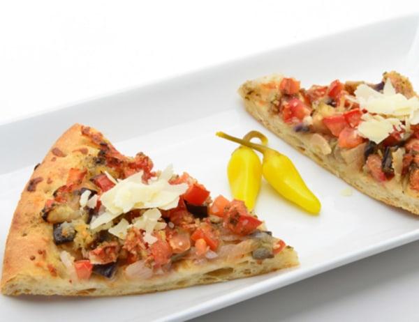 Image ofEggplant and Tomato Pizza
