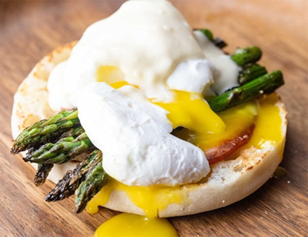 Image ofEggs Benedict with Asparagus