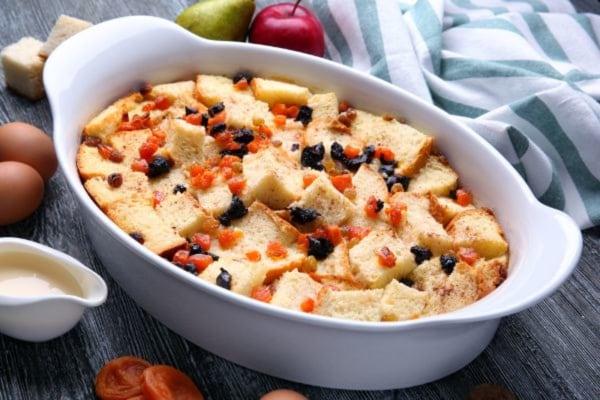 Classic Fruit and Bread Pudding-spicyorganic.com
