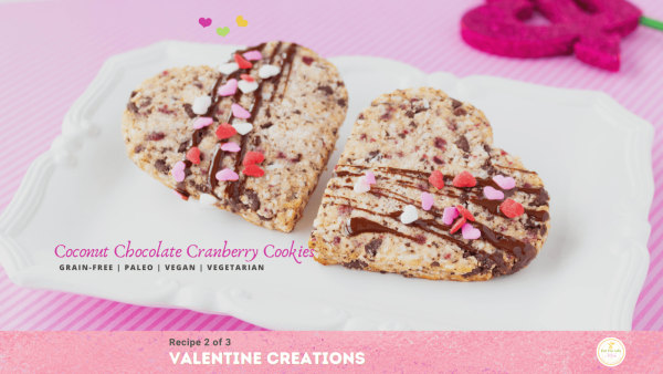 Image ofCoconut Chocolate Cranberry Cookies – Grain-Free and Vegan