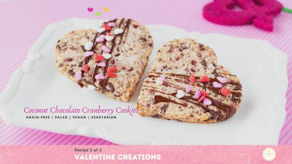 valentine cookies  - vegan - gluten-free - dairy-free